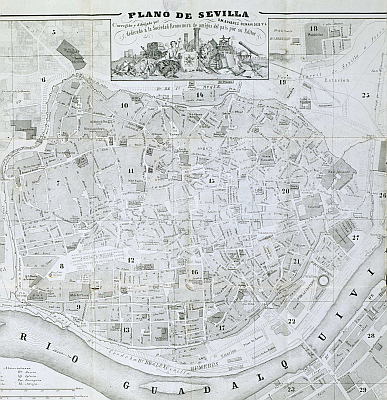 18th Century Seville map